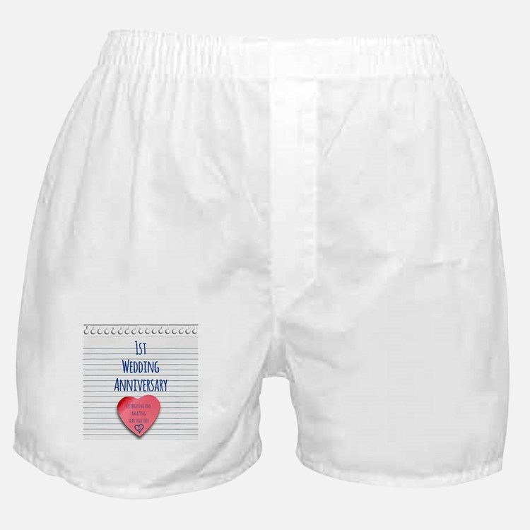 1st Wedding Anniversary Boxer Shorts