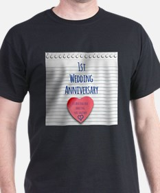 1st Wedding Anniversary T-Shirt