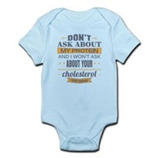 Dont Ask About My Protein Vegetari Infant Bodysuit