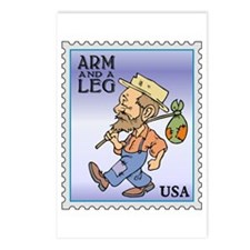 Arm And A Leg Bum Postage Increase Postcards (Pack
