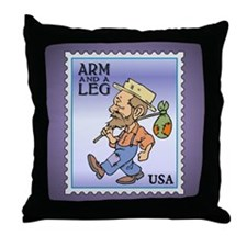 Arm And A Leg Bum Postage Increase Throw Pillow