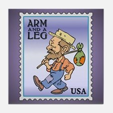 Arm And A Leg Bum Postage Increase Tile Coaster