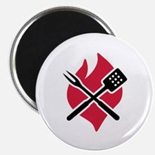 "BBQ barbecue Fire 2.25"" Magnet (100 pack)"