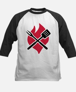 BBQ barbecue Fire Kids Baseball Jersey