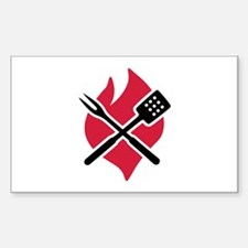 BBQ barbecue Fire Decal