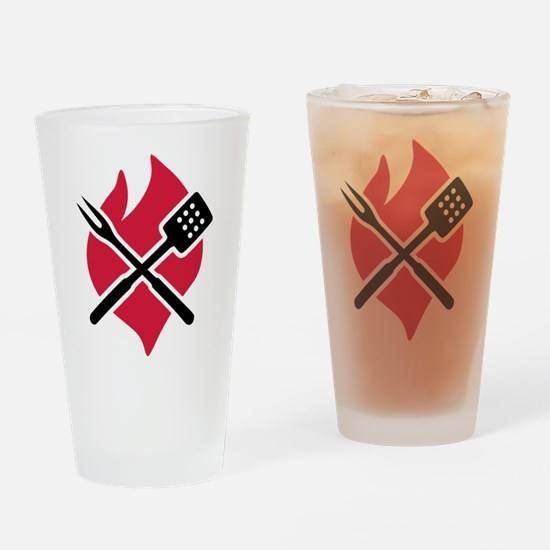 BBQ barbecue Fire Drinking Glass