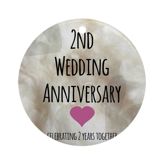 Nd wedding anniversary ornament round by admin cp