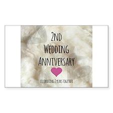2nd Wedding Anniversary Decal
