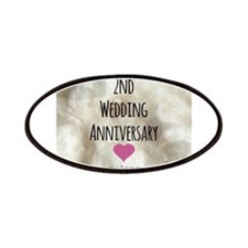 2nd Wedding Anniversary Patches
