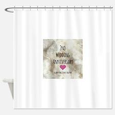 2nd Wedding Anniversary Shower Curtain