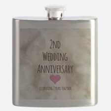 2nd Wedding Anniversary Flask