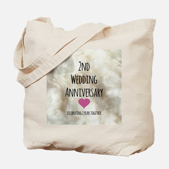 2nd Wedding Anniversary Tote Bag