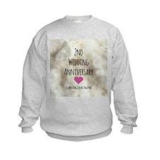 2nd Wedding Anniversary Sweatshirt