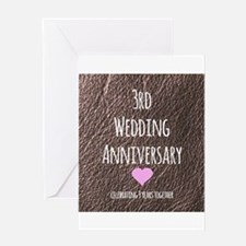 3rd Wedding Anniversary Greeting Cards