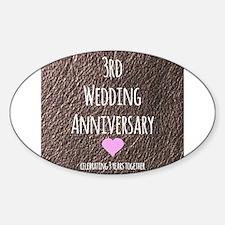 3rd Wedding Anniversary Decal