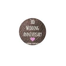 3rd Wedding Anniversary Mini Button