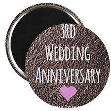 3rd Wedding Anniversary Magnets