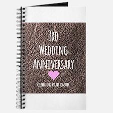 3rd Wedding Anniversary Journal