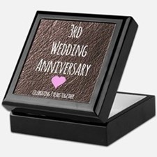 3rd Wedding Anniversary Keepsake Box