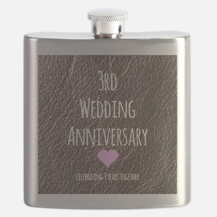 3rd Wedding Anniversary Flask