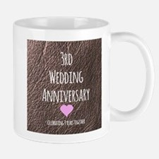3rd Wedding Anniversary Mugs