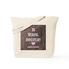 3rd Wedding Anniversary Tote Bag