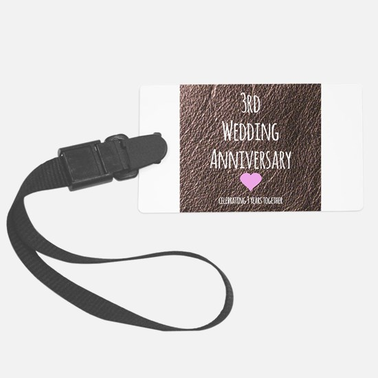 3rd Wedding Anniversary Luggage Tag
