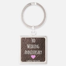 3rd Wedding Anniversary Keychains