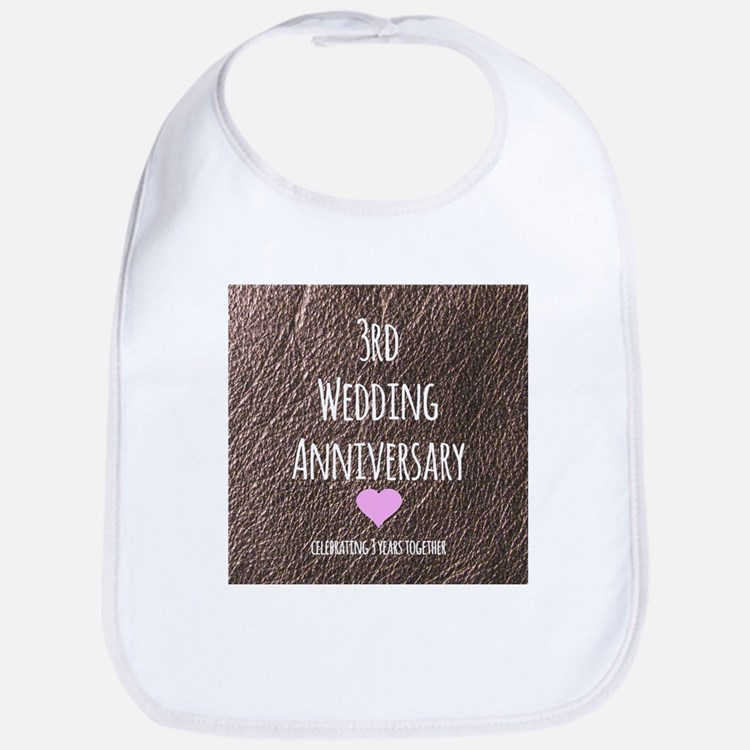 3rd Wedding Anniversary Bib
