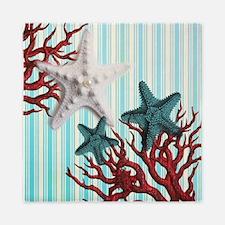 modern seashells coral nautical beach Queen Duvet