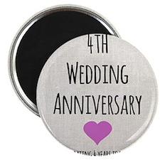 4th Wedding Anniversary Magnets