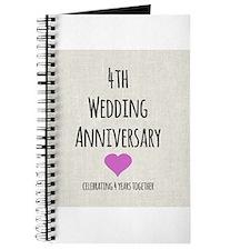 4th Wedding Anniversary Journal