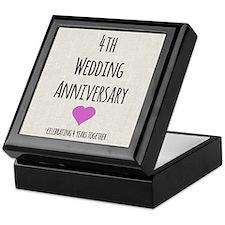 4th Wedding Anniversary Keepsake Box