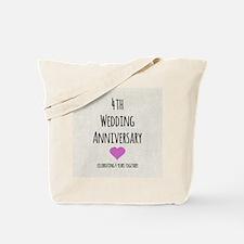 4th Wedding Anniversary Tote Bag
