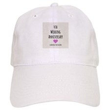 4th Wedding Anniversary Baseball Baseball Cap