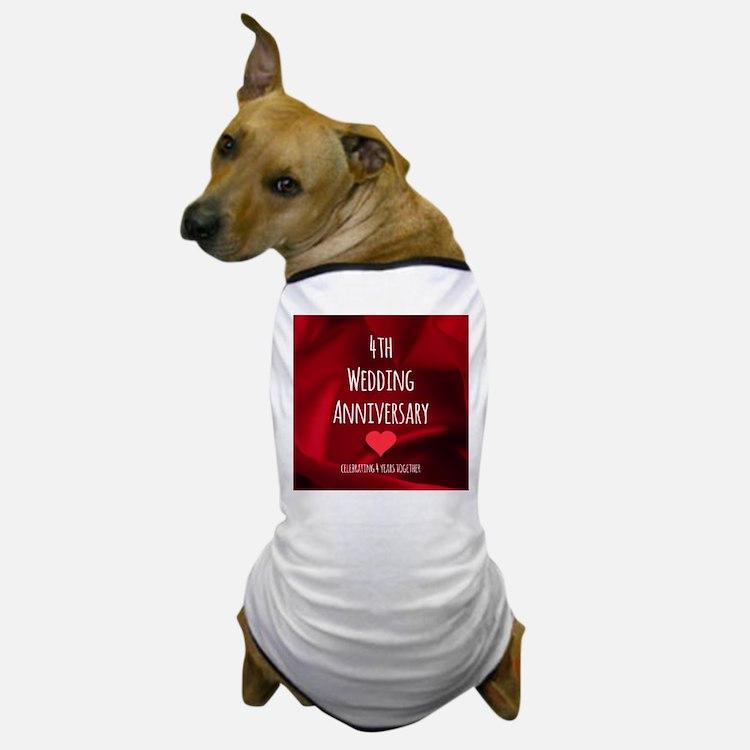4th Wedding Anniversary Dog T-Shirt
