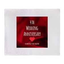 4th Wedding Anniversary Throw Blanket