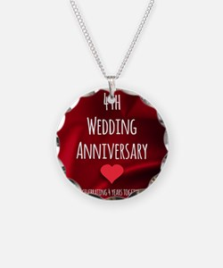 4th Wedding Anniversary Necklace