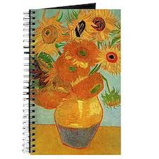 Vase with twelve Sunflowers, Vincent van G Journal