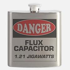 Danger Sign 1.21 Jigawatts BTTF Flask