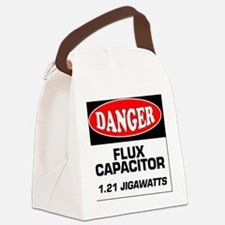 Danger Sign 1.21 Jigawatts BTTF Canvas Lunch Bag
