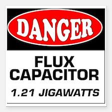 "Danger Sign 1.21 Jigawat Square Car Magnet 3"" x 3"""