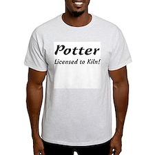 Potter. Licensed to Kiln Ash Grey T-Shirt