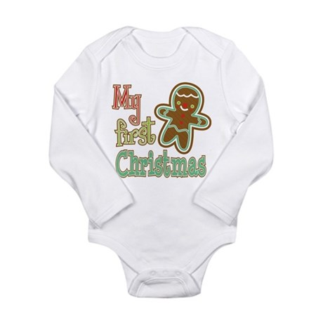 My First Christmas Gingerbread Infant Bodysuit