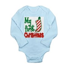 My First Christmas Stocking Infant Bodysuit
