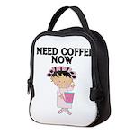 I NEED COFFEE NOW Neoprene Lunch Bag