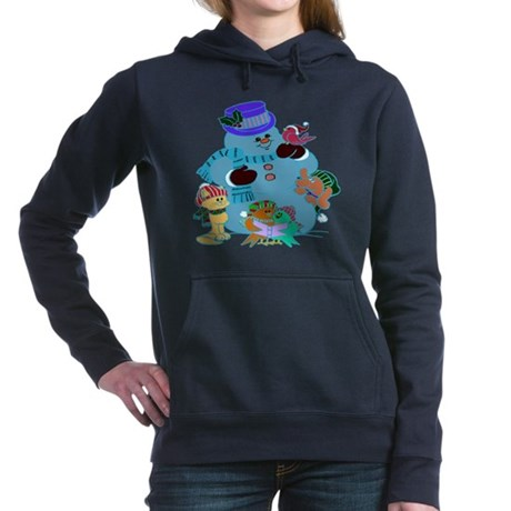 Snowman And Friends Hooded Sweatshirt