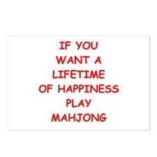 mahjong Postcards (Package of 8)
