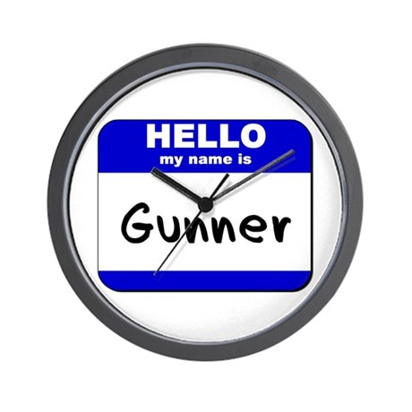 hello my name is gunner Wall Clock