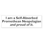 Self-Absorbed Promethean Neopelagian Bumper Sticke